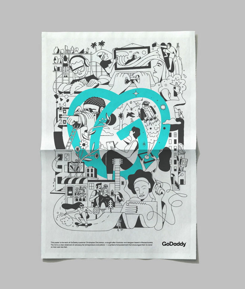 GoDaddy Poster New
