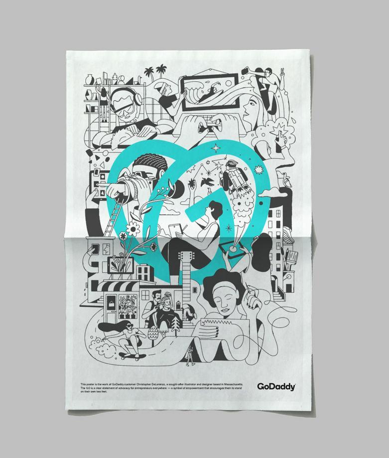 GoDaddy Poster New