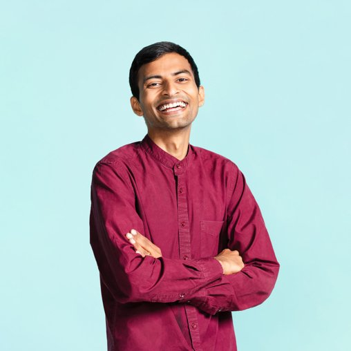 GoDaddy's showcase guide - an Indian guy wearing traditional Indian clothes