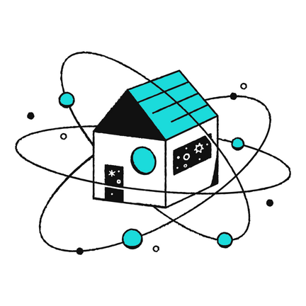 GoDaddy Atom House Illustration